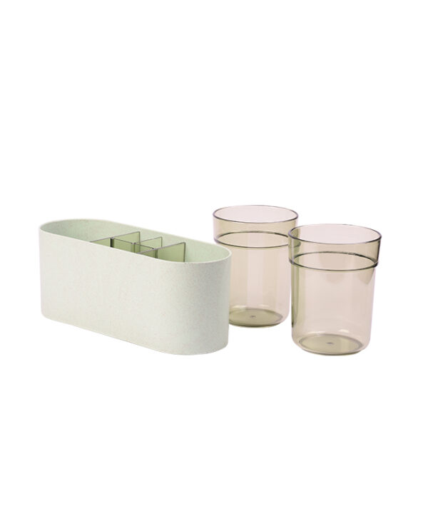 Transparent Cups with Holder